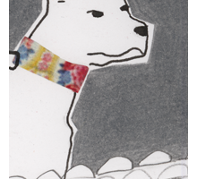 Hund / Illustration zu der Kurzgeschichte Lido – Mixed Media (2007)